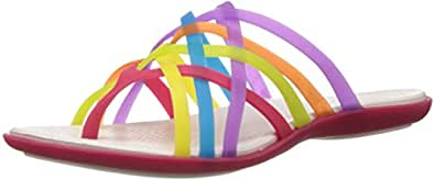 Crocs Women's Huarache Multi and Geranium Rubber Flip-Flops and House Slippers - W5