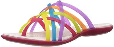 Crocs Women's Huarache Multi and Geranium Rubber Flip-Flops and House Slippers - W5