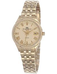 Yonger & Bresson DMP 1690/22 - Reloj de pulsera mujer, acero inoxidable chapado, color dorado