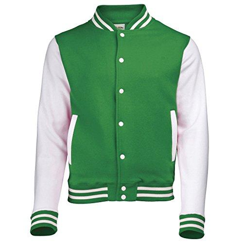 COLLEGE JACKE weißer Ärmel Green M