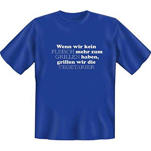 DAS Shirt für BBQ-Fans und Grillprofis: Wenn wir kein Fleisch mehr zum Grillen haben T-Shirt, Farbe royalblau, Royal-Blue