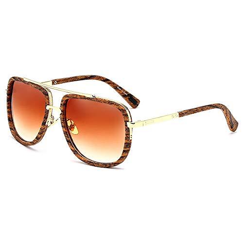 SHEEN KELLY Große Retro Sonnenbrillen Marken Metall Rahmen Pilot Platz Spiegel Brillen herren damen Gold/Silber