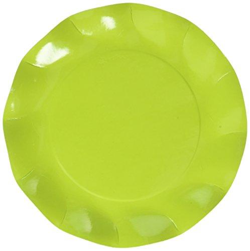 sophistiplate Papier 20Stück, lime grün, Abendessen Teller (20Stück) (Werfen Kalk)