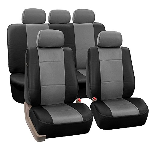 FH GROUP Car Seat Covers, Full Set, Grey/Black