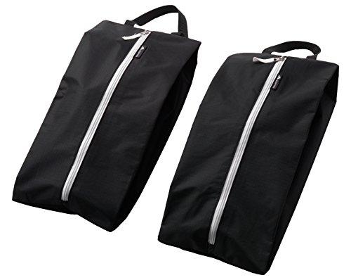 Alpamayo® Schuhtasche 2er Set, wasserfeste Schuhbeutel für den Transport von Schuhen auf Reise, ideal für den Koffer, Reisetasche oder Handgepäck, schwarz