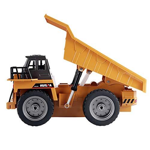 12shage 1:18 RC Truck 6CH Dump Truck Remote Control Simulation BAU Spielzeug Geschenk
