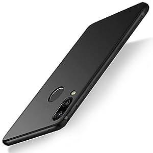 Huawei P20 Lite Hülle, AZGIANT Huawei P20 Lite Schutzhülle Silikonhülle Dünn, Handyhülle Hülle für Huawei P20 Lite(Schwarz)