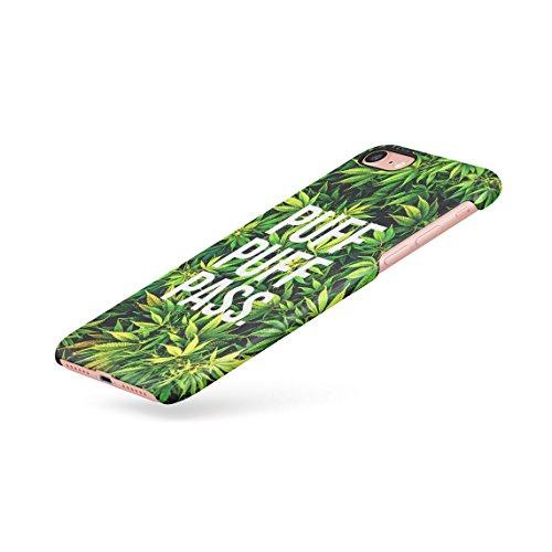 Chill Trippy Cannabis Leaves Pattern Dünne Rückschale aus Hartplastik für iPhone 7 & iPhone 8 Handy Hülle Schutzhülle Slim Fit Case cover Puff Pass