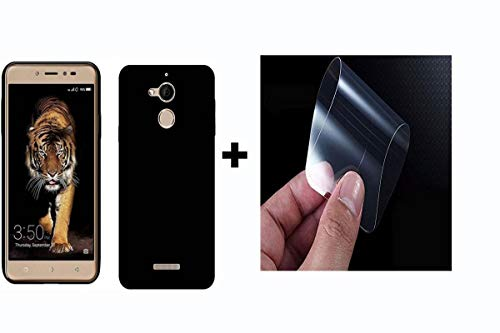 Coolpad Note 5 {Combo Offer} Back Cover HD Soft TPU Flexible (Black) + Nano Glass Unbreakable Screen Protector for Coolpad Note 5 by PrishaGold