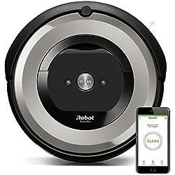 iRobot Roomba e5154 - Robot Aspirador Óptimo Mascotas, Succión 5 Veces Superior, Cepillos de Goma Antienredos, Sensores Dirt Detect, Suelos Duros y Alfombras, Con Wifi, Programable por App