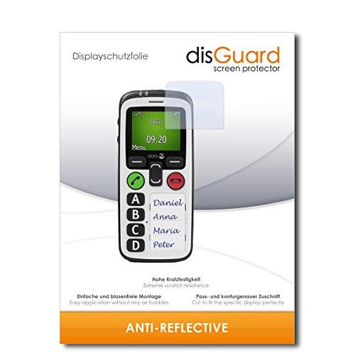disGuard® Bildschirmschutzfolie [Anti-Reflex] kompatibel mit Doro Secure 580 IP [4 Stück] Entspiegelnd, Matt, Antireflektierend, Extrem Kratzfest, Anti-Fingerabdruck - Panzerglas Folie, Schutzfolie