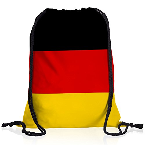 style3 Deutschland Turnbeutel Rucksack Tasche Germany Flagge WM EM Sport Beutel Festival Fahne Uni Schule Bunt -