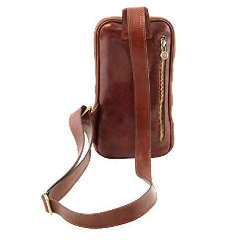 Tuscany Leather Martin - Monospalla in pelle - TL141536 (Miele) Testa di Moro