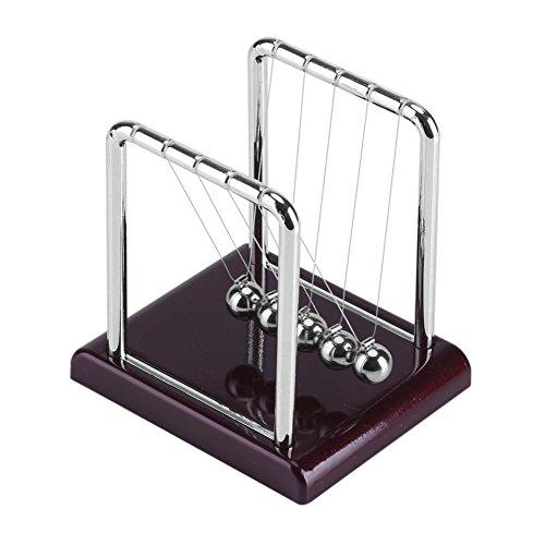 Acciaio balance swinging magnetic ball cradle fisica scienza pendolo desk fun toy gift mini pendolo ball desk toy