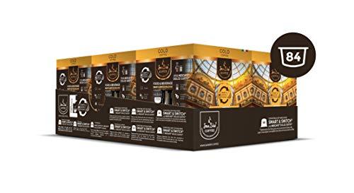 SanSiro Gold - 84 Nescafé® Dolce Gusto® kompatible Kaffeekapseln - 6er Pack (6 x 14 Kaffeekapseln) -