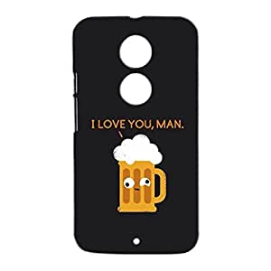 Mobile Cover Shop Glossy Finish Mobile Back Cover Case for Moto X 2nd Gen