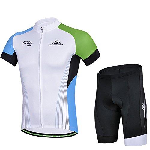 [ Radtrikot kurzarm Set] 2016 Fashion Herren Trikot Set gepolstert Fahrradhose Cycling Jersey Atmungsaktiv und Schnell Trocknend Stoff Fahrradbekleidung Herren