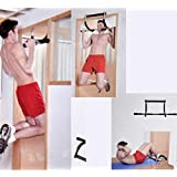 Aysis Home Gym Pull up Bars for Home | Push up bar | sit ups Equipment | dips Stands with Top Pulley Solid Fitness Gym Accessories (Color- Black)