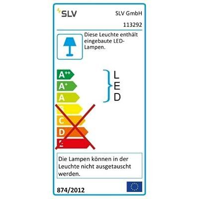 SLV LED Einbauleuchte Frame Curve   Wand- und Deckenleuchte für den Einbau   Eckig, Silbergrau, 4000K Neutralweiß   Stilvolle Wandleuchte, LED Treppen-Beleuchtung, Stufen-Licht, Treppenlicht