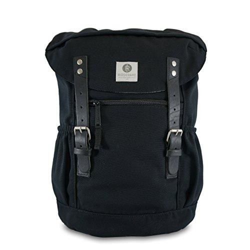 Ridgebake zaino caso OTONE CANVAS BLACK & BLACK nero Uomo Donna Bambini Laptop Backpack