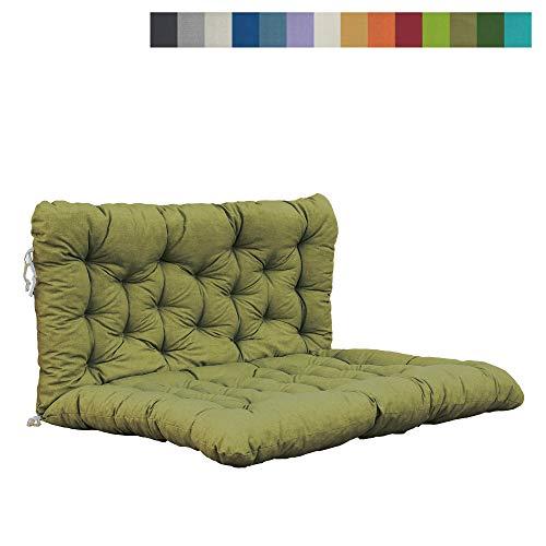 38c Farbe (Akadas Gartenmöbel Auflage/Kissen Palette mit Rückenteil Sitz, 130x120x8 cm, Olive)