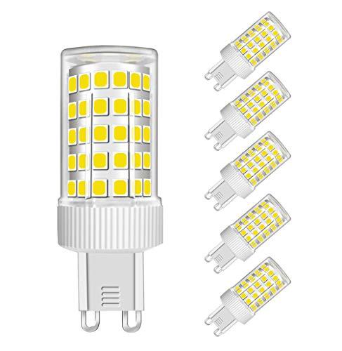 MENTA Lampadina LED G9 10W Equivaleni a 80W, Bianco Fredda 6000K, 800LM, Non-Dimmerabile, AC220-240V, 360 Angolo a fascio, Lampadine G9 LED, 5 Pezzi