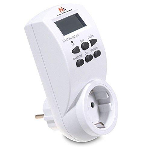 Maclean MCE05G Digitale Zeitschaltuhr Steckdose Wochenzeitschaluhr 10 Prog. 7 Tage 230V 16A