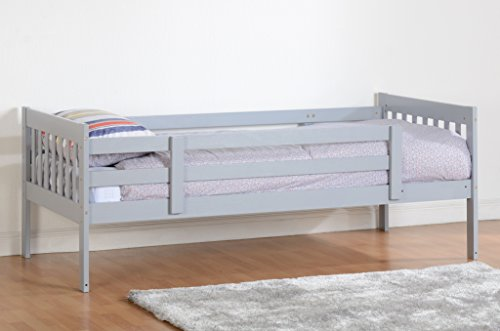 Kennedy 3ft Childrens Wooden Bunk Beds - White or Grey (grey)