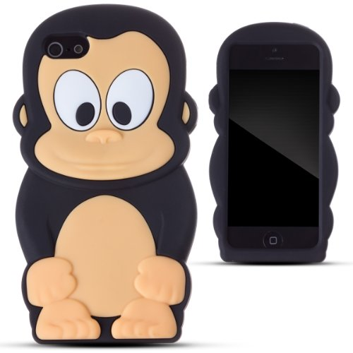 zooky-black-silicone-monkey-case-cover-shell-for-apple-iphone-5-5s