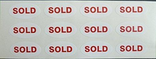 PROMOTION Aufkleber, verkauft, 40x20mm oval Selbstklebende Post Etikett