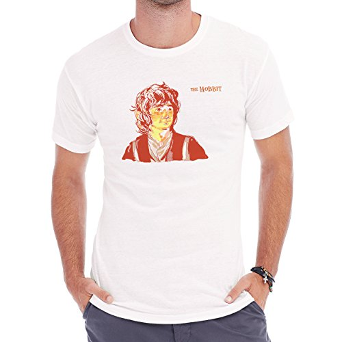 Mr Baggins Brown Face Herren T-Shirt Weiß