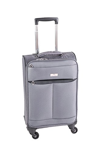 Maleta con ruedas Pianeta, maleta, maleta de viaje, maleta de viaje con ruedas, equipaje (gris XL)