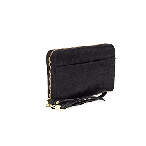 Fab by Fabienne  3 letter logo purse, Damen Baguette black hairy