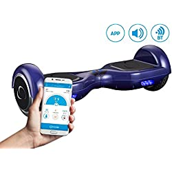 """SmartGyroX2, Patinete eléctrico con batería Samsung y certificado UL2272, color azul, talla 6.5"""""""