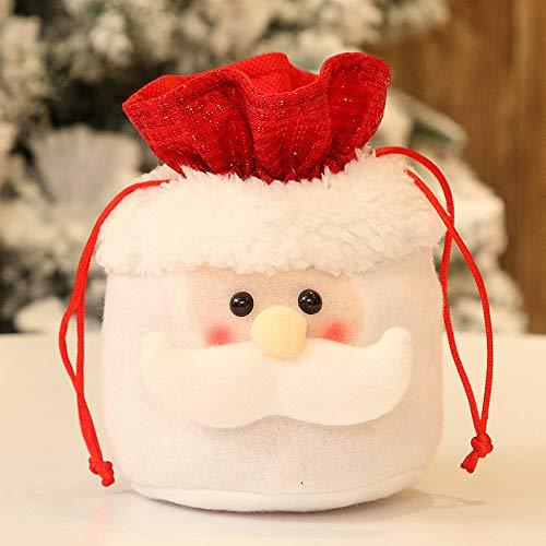 Gaddrt Süßigkeitenlagerung Weihnachtssüßigkeits-Party-Geschenk-Taschen-Dekorationen Weihnachtsspeicher-Verpackung Wrapper Supplies (A)