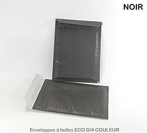 Lot de 50 Enveloppes à bulles D/4 NOIRES format 180x260 mm