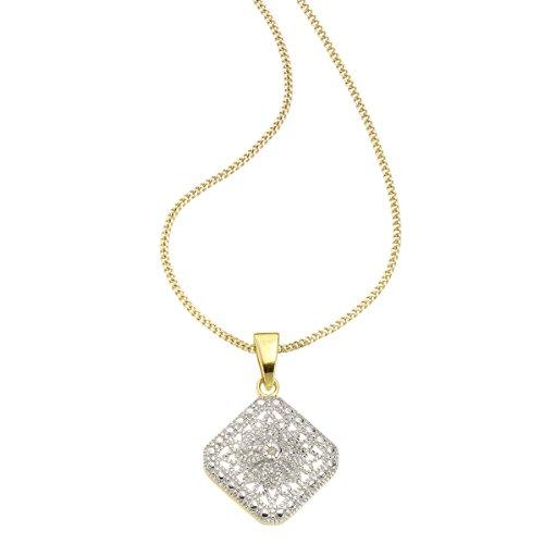 Diamonds by Ellen K. - Catenina con pendente da donna con diamante (0,0106 ct), argento sterling 925, 450 mm, cod. 500244050-45V