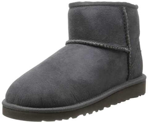 UGG Unisex-Kinder Mini Classic Kurzschaft Stiefel, Grau (Grigio), 31 EU