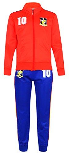 Juego de chándal para niño, equipación de fútbol, talla para edades de 4-12años, color españa, tamaño (9-10 Años)