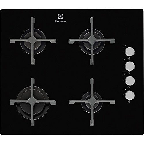 Electrolux egt16142nk plan cuisson de table à gaz, noir