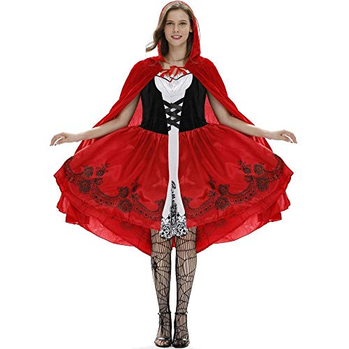 Halloween Cosplay Kostüm Nach Little Red Riding Hood Game Pack, Rot, XL
