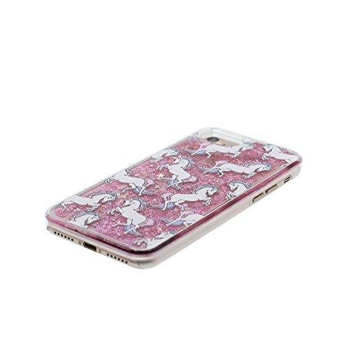 """iPhone 6 Plus Coque Case , Glitter Bling Sparkles Flowing Liquid Anti Scratch Hard Protective Étui iPhone 6S Plus / 6 Plus Cover 5.5"""" - Sexy Lèvres rouges # 1"""