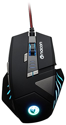NACON GM-300 Optical Gaming Maus (2500dpi, mehrfarbige Beleuchtung)