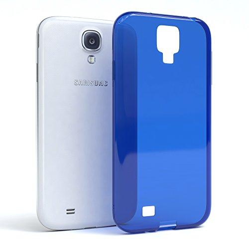 Samsung Galaxy S4 / S4 Neo Hülle - EAZY CASE Ultra Slim Cover TPU Handyhülle Matt - dünne Schutzhülle aus Silikon in Dunkelblau Clear Blau