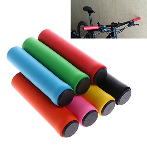Dairyshop, manopole per manubrio da bici in silicone antiscivolo per ciclismo in montagna, Mtb, Uomo, Yellow