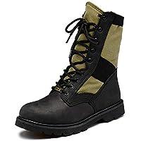 Wanlianer Bota de Hombre Botas de la Jungla del Desierto Militar con Zapatos de Cremallera para Hombres (24.5 cm-28 cm) Invierno (Color : Negro, tamaño : 41 1/3 EU)