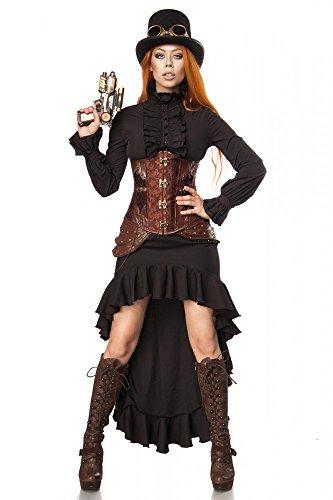 Super Deluxe Steampunk Fighter Damen Kostüm Burning Man viktorianisch Industrial, Größe:M