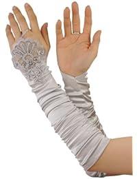 Efashionsquare Fingerlose Perlen Modisch Handschuhe 90538BL