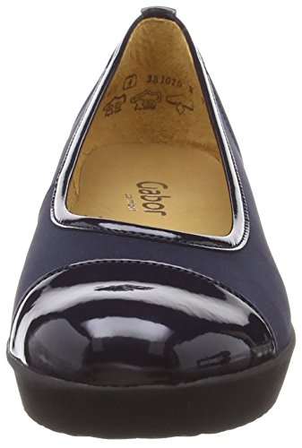 Gabor Orient, Escarpins Femme Bleu (Navy/Patent)