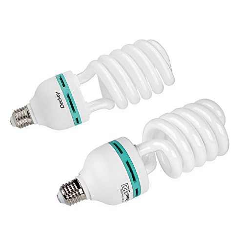 DECKEY 2x 55W Fotolampe Glühlampe Fotoleuchte Tageslichtlampe Dauerlicht Energiesparlampe E27 Birne für Fotostudio Studioleuchte Test